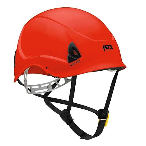 Petzl ALVEO BEST ANSI helmet Red with drawstring storage bag by Petzl