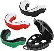 Number-one 3 Pack Soft Mouth Guard, Professional Sports Mouthguard for Boxing, Jujitsu, MMA, Football, Basketb