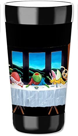 Michael Godard Mugzie brand 16-Ounce To Go Tumbler with Insulated Wetsuit Cover Strike it Rich