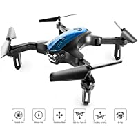 ScharkSpark Drone for Beginners, Portable RC Mini Quadcopter with Foldable Arms for Indoor/Outdoor Play, 2.4Ghz 4CH 6-Axis Gyro One-Key Return/Headless Mode/Altitude Hold/3D Flips, Easy to Control