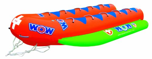 WOW World of Watersports, 12-8040, Resort Sports 10 Rider Closed Bow Towable Banana Boat