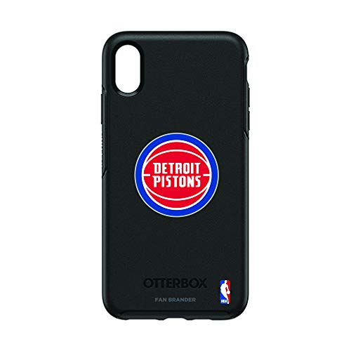 (Fan Brander NBA Team Logo with OtterBox Symmetry Series case Compatible with iPhone Xs Max(Detroit Pistons))