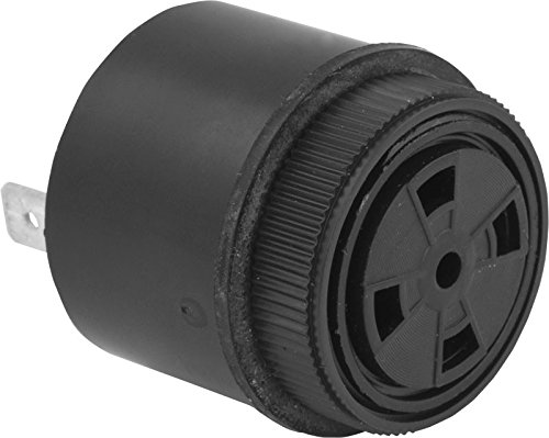 30-120 VAC Continuous Tone Piezo Buzzer 95dB Black