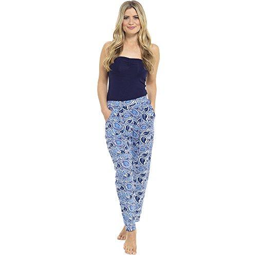 Jersey Bleu Marine Pantalon Harem Femmes Imprimé 5yKqRRA