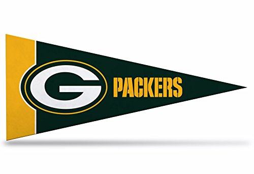 Green Bay Packers Felt Pennant - Zipperstop 8 Pack Official Licensed Green Bay Packers NFL Mini Pennants, 4