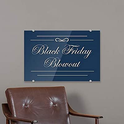 Stripes Blue Premium Brushed Aluminum Sign 5-Pack Black Friday Blowout CGSignLab 8x3
