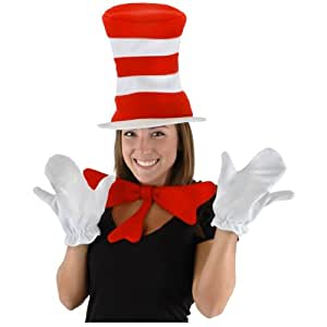 Costumes For All Occasions ELLX3519 Dr. Seuss Cat In The Hat Costume Kit Adult (accesorio de disfraz)