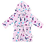 Verabella Boys Girls' Fleece Printed Hooded Beach Cover up Pool wrap,Unicorns,XL