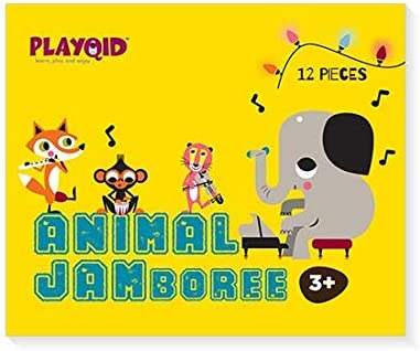 PLAYQID Animal Jamboree Jumbo Giant Jigsaw Floor Puzzle 12 Huge Piece Puzzle for Kids Age 3 and Above (Also Recommended for Age 2 and Above) Size 36 x 28 - cm