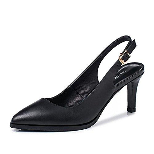 Bridal Shoes Court Heeled Wedding Heel Graduation Stilettos 7cm Shoes Jobs Shoes Waterproof XUERUI Ms Black High PwxvqCRP