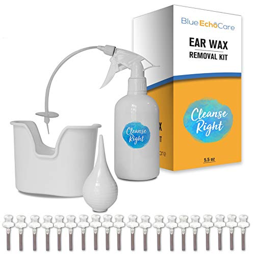 Cleanse Right Ear Wax Removal Kit- 20 Disposable Tips! with Wash Basin and Syringe - Safe, Easy to Use - Cleaner Tool to Remove Ear Blockage - Irrigation Device for Adults and Kids
