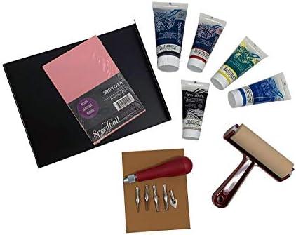 Amazon.com: speedball deluxe block printing kit includes inks