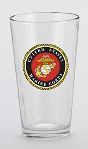 U.S. Marine Corps Mixing Beer Drinking Glass