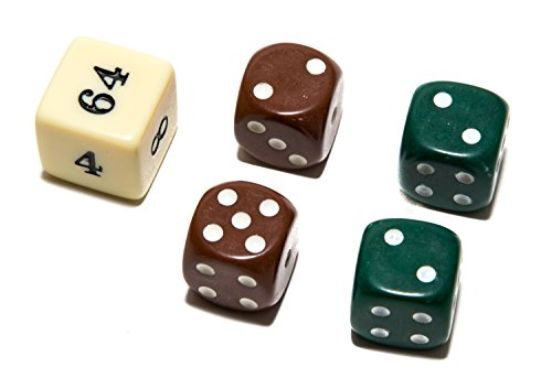 Bello Games Uria Stone Backgammon Dice Sets-Green/Brown - Cube Doubling Backgammon