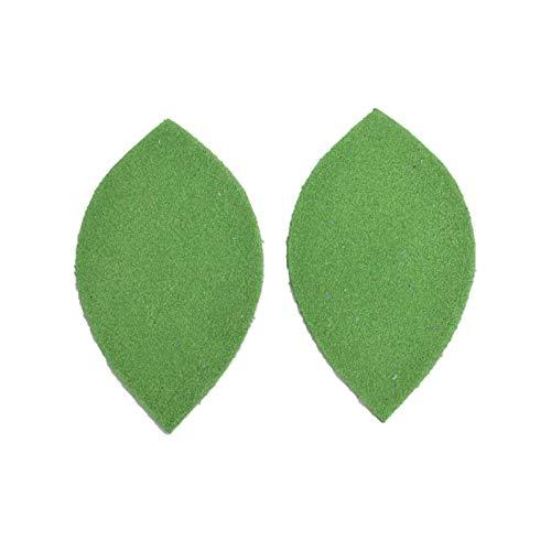 - 12pk-Leather Leaf Medium Die Cut