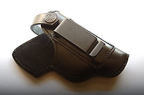 cal38B950 Handcrafted Leather iwb Holster for Beretta 950 25acp Tan Black