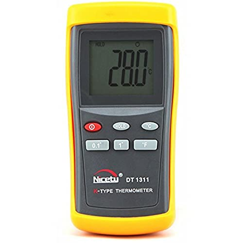 Digital K-type Thermocouple Thermometer with 1 Sensor Wire Probe for HVAC and Industrial Use byBgOwSN