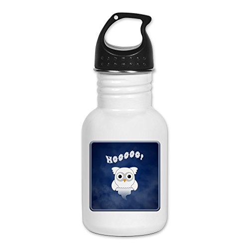 Kid's Water Bottle Spooky Little Ghost Owl in the (Casper The Ghost Halloween Costume)
