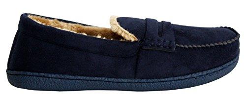 New Con Invierno Comodidad Para Tipo Zapatillas Forro 7 Hombre Ligero Talla nbsp; Zapatos Sintética Mocasín Uk Cálido Piel vIrIB8q