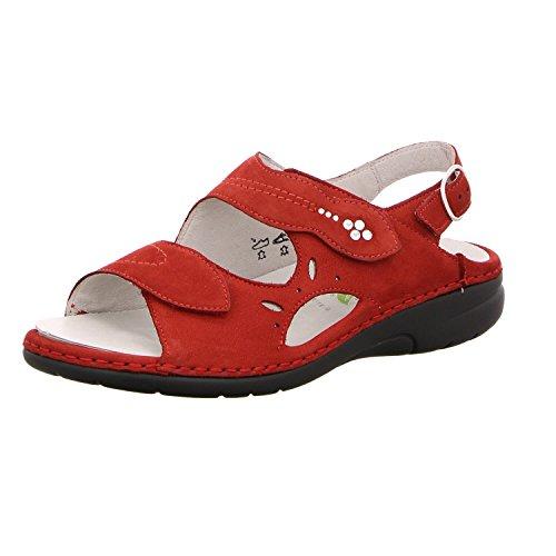 Sandales De Mode Féminine Waldläufer Rouge