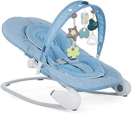 Chicco Hoopla - Hamaca con arco de juegos y reductor, Azul (Ocean ...