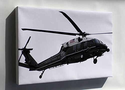 Canvas 16x24; Marine One Vh-60N Whitehawk