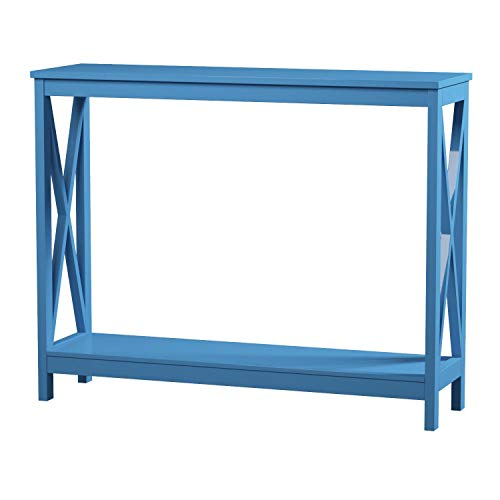 Blue Console - Convenience Concepts Oxford Console Table, Blue