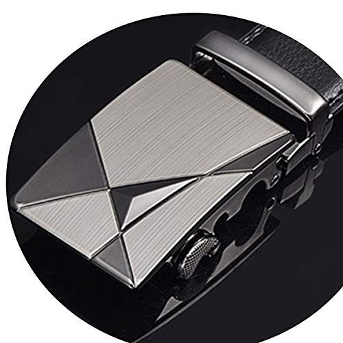 Belt Male Genuine Leather Strap Belts For Men Automatic Buckle black Belts Cummerbunds cinturon hombre,NE313,105cm 29to31 Inch