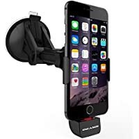 iPhone 6 & 6 Plus, Charging Car Mount Navigation Dock By Encased [Windshield / Dashboard Compatible]Apple Approved MFI Certified Charger (Case-Free Design)