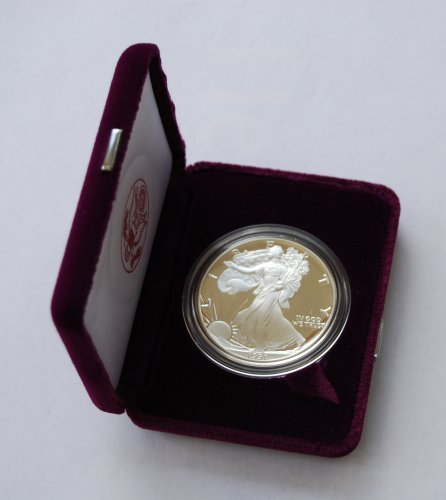 (1991 Proof American Eagle Silver Dollar with Original Packaging )