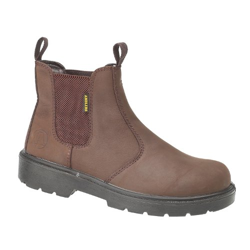 Mens Boot Amblers Boots FS128 Brown Steel qZqt8g