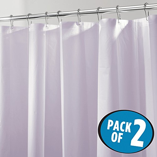 mDesign Mildew-Free PEVA 3 Gauge Shower Curtain Liner - 72