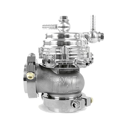 (TiAL MV-R 44mm Wastegate Silver With V-Band and Flanges All Springs)