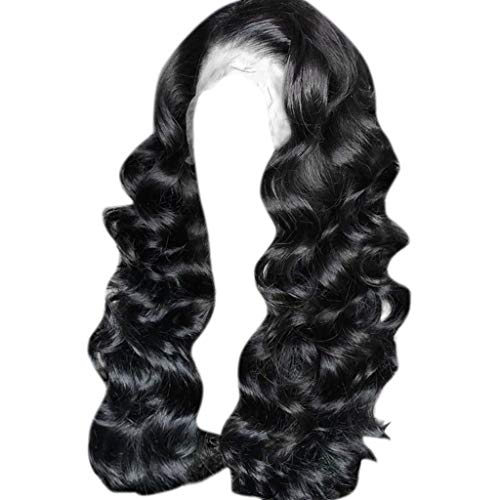Hair Wig Natural,FAPIZI 13x6 Lace Front Human Hair Wigs Pre Plucked with Baby Hair Curly Brazilian Remy Hair Wig Black
