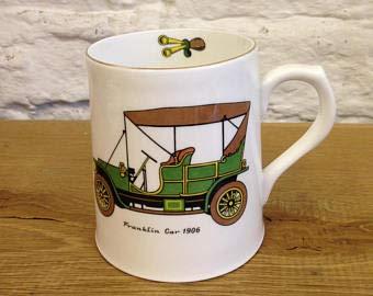 Vintage Royal Grafton Franklin 1906 Classic Car Mug with Gilt Edge in Very Good Condition.
