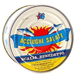 Whole Salted Anchovies - Acciughe Salate (600 gr. drained)