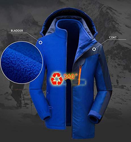 Liner Warm Men's Suit Mountaineering Outdoor piece Yellow Waterproof Fleece Jacket Two wSq0EUSH