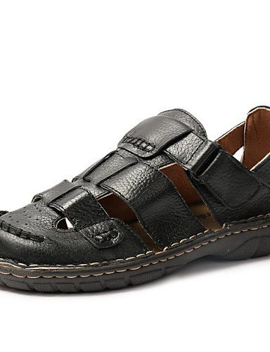 ShangYi Herren Sandaletten Herrenschuhe - Outddor / Lässig / Sportlich - Sandalen - Leder - Schwarz / Braun Black