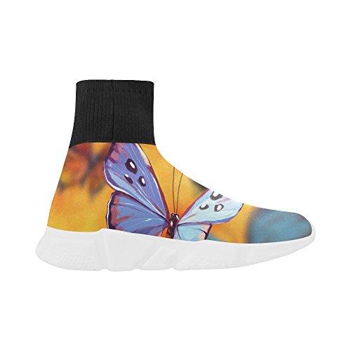 Leinterest Butterfly Unicorn Strekning Sokk Sko For Kvinner
