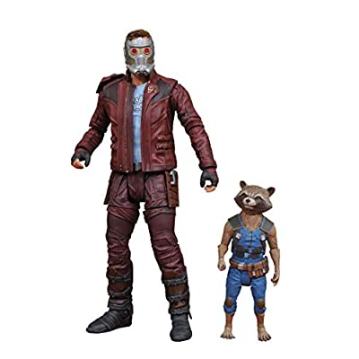 DIAMOND SELECT TOYS Marvel Select Guardians of The Galaxy 2 Star-Lord & Rocket Action Figure: Toys & Games