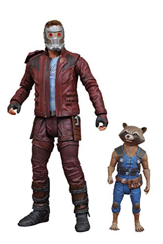 DIAMOND SELECT TOYS Marvel Select Guardians of The Galaxy 2 Star-Lord & Rocket Action Figure (Rocket Raccoon Figure)