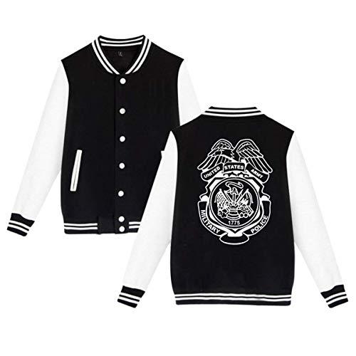 US Army Military Police Badge Unisex Baseball Uniform Jacket Sweatshirt Sport Coat ()
