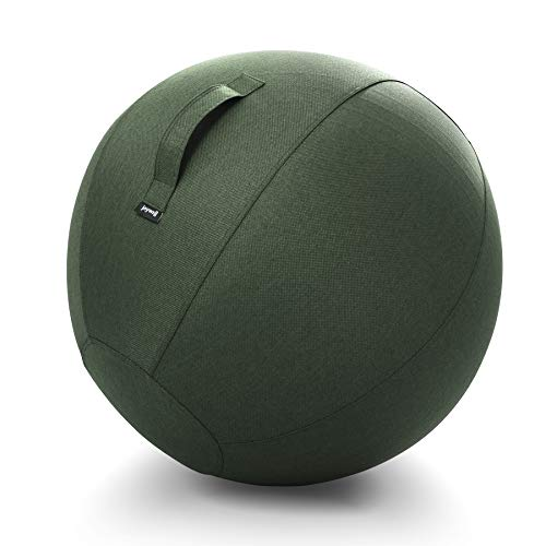Joywell Yoga Ball Stability Sitting Ball Chair Covers, Multifunction Foldable Storage Bag Laundry Hamper, Multiple Colors Nice Fabric, Fitness Birthing Medicine Ball Cover Protector (65CM, Army Green)