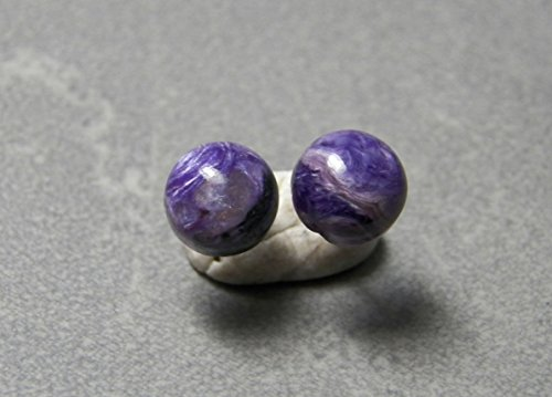 10mm Chariote Gemstones and sterling silver post earrings