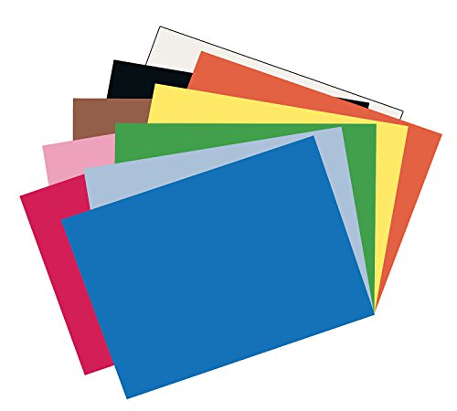 Pacon Construction Paper, 12-Inches by 18-Inches, 50-Count, Assorted (103638)