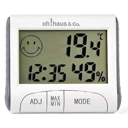 Termómetro Interior / Exterior & Reloj digital OH503: Amazon ...