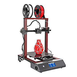 WEEDO Quick Assembly Dual Color 3D Printer ME40 Pro, with Auto Leveling, Removable Heated Platform, 4.3-inch Full-Color Touch Screen, Large Printing Size 11.8x11.8x15.7 Inch.
