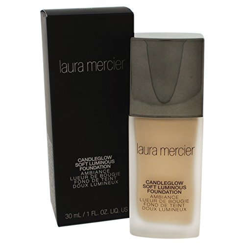 Laura Mercier Candleglow Soft Luminous Foundation, No. 1W1 Ivory, 1 Ounce