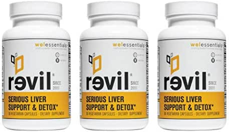 Revil: Serious Liver Support & Detox by WEL Essentials | 90 Capsules - 3 Pack