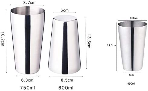 OHOME 13pcs 450/600 Cocktail Shaker Sieb Bar Ice Drink Wire Edelstahl Sieb Filter Barkeeper Cocktail Tool, 1